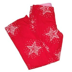 Victoria's Secret PINK Pajama Pants Red Stars